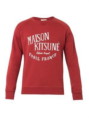 Palais Royal-print cotton sweatshirt