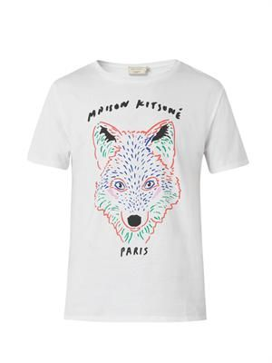 Fox-print cotton T-shirt