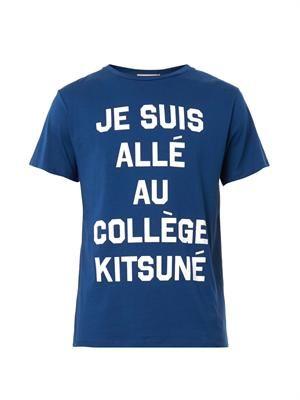 Collège-print T-shirt