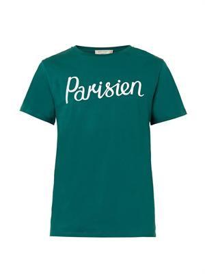 Parisien-print cotton T-shirt