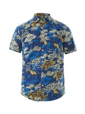 Hawaiian-print cotton shirt