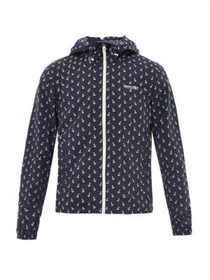 Anchor-print nylon parka