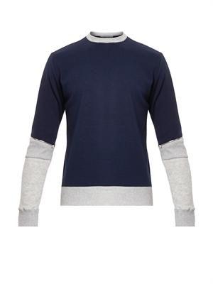 Colour-block zip sweatshirt