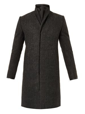 Loden virgin-wool coat