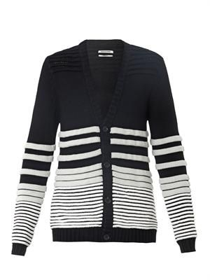 Rippled-knit cardigan