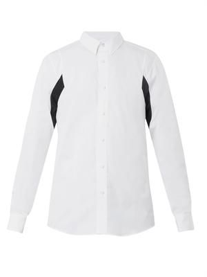 PUBLIC SCHOOL Contrast-panel poplin shirt