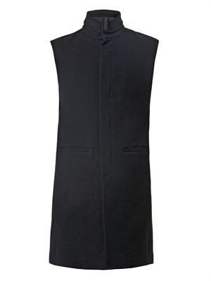 Long canvas vest