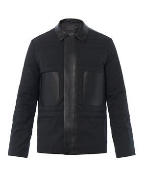 Leather-trim Hunter jacket