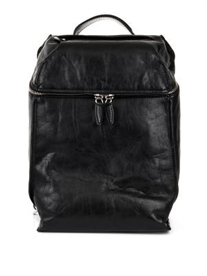 Inside Out leather backpack