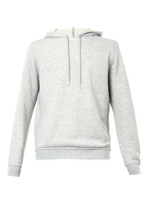 Textured-jersey hooded sweatshirt