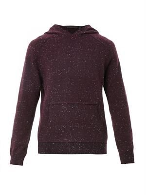 Cotton and cashmere-blend hooded sweater