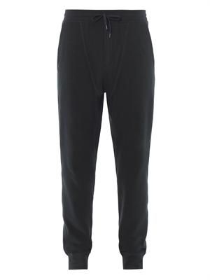 Cotton-piqué sweatpants