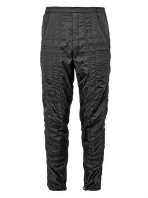 Quilted lightweight track pants