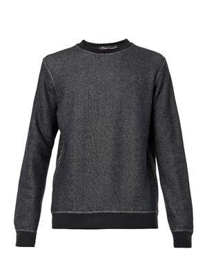 Textured-jersey sweatshirt
