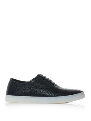 Ash grained-leather trainers