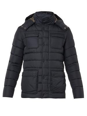 Quilted down field jacket