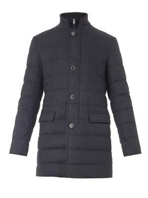 Silk & cashmere-blend quilted down jacket