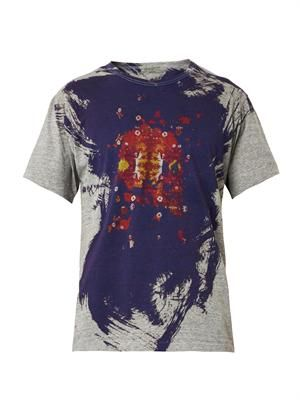Skull-print jersey T-shirt