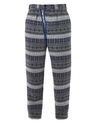 Nordic Fair Isle-print wool-blend trousers