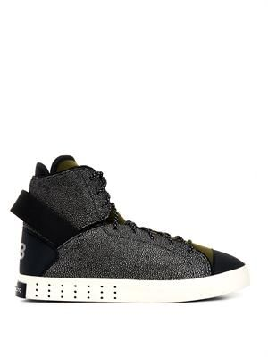 Laver high-top trainers