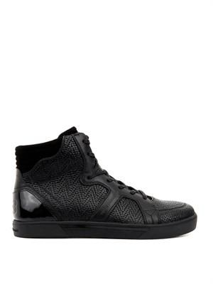 Rydge high-top leather trainers