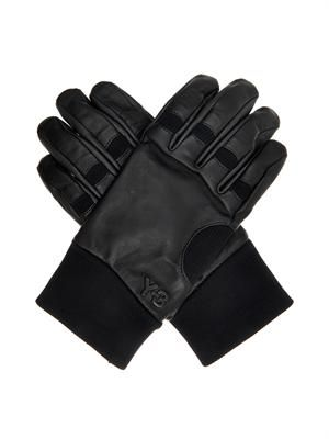 Leather and suede gloves