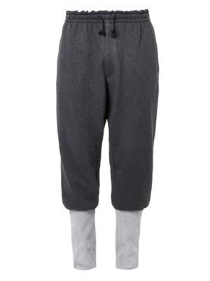 Hero cotton-jersey track pants
