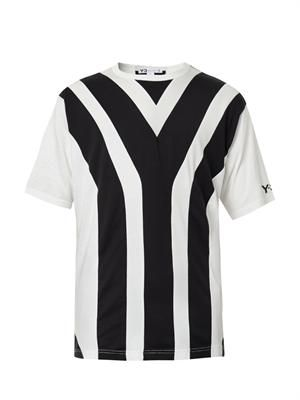 Y-stripe T-shirt