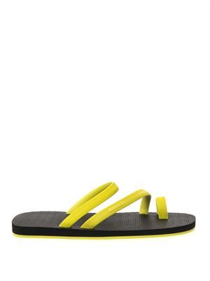 Bi-colour rubber sandals