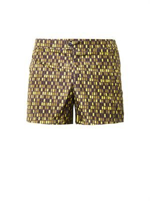 Rectangular-print swim shorts