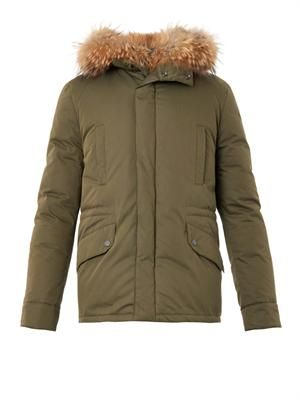 Padded fur-lined parka