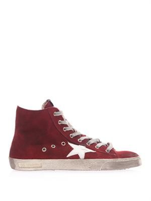 Francy suede high-top trainers