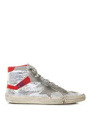 212 high-top leather trainers