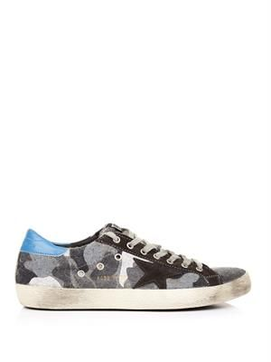 Superstar low-top camo-print wool trainers