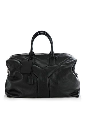 'Y' leather travel bag