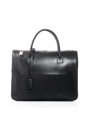 Leather bowling bag