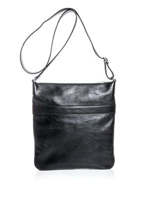 Leather cross-over bag