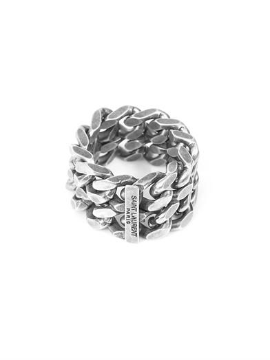 WISHLIST | Saint laurent Silver chain ring
