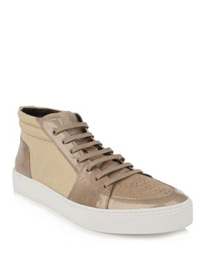 Midi high-top trainers