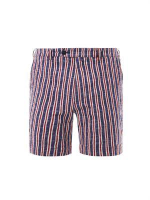Boating striped shorts