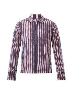 Boating striped jacket