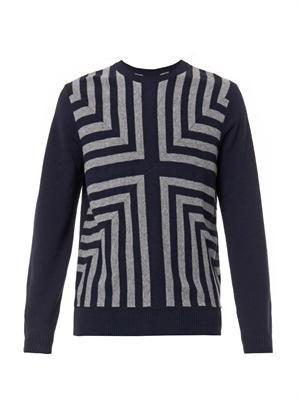 Kalidoscope-knit wool sweater