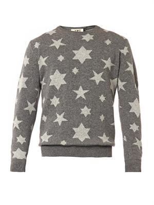 Star-intarsia sweater