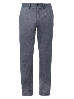 Herringbone cotton trousers