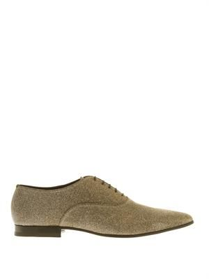 Glitter lace-up oxford shoes