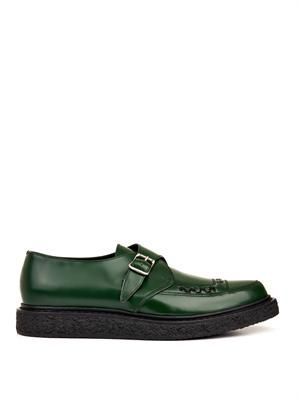 Creepers leather monk-strap shoes