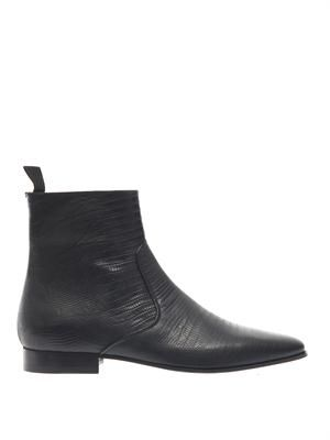 SAINT LAURENT London 20 embossed chelsea boots