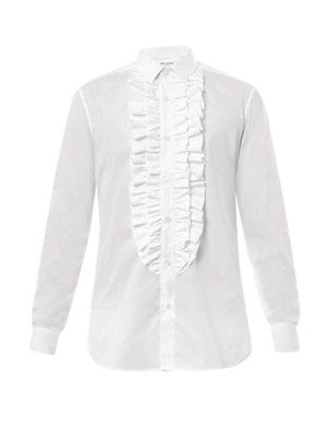 Ruffle-front dinner shirt