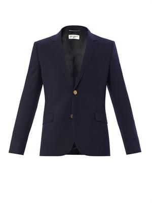 Two-button notch lapel blazer