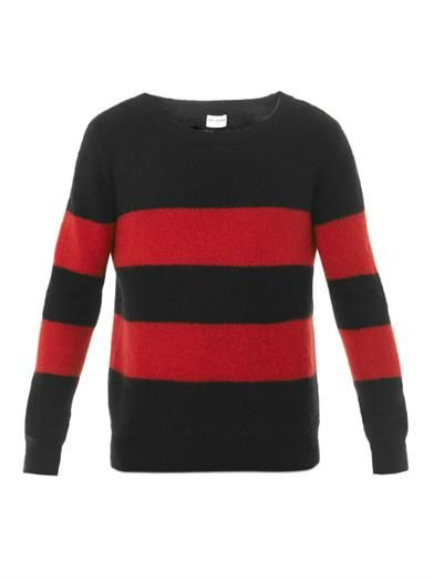 WISHLIST | Saint Laurent Stripe mohair sweate